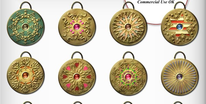 Golden Disk Painted Charms Scrapbooking Kit