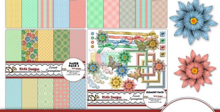 Sweet Springtime Digital Scrapbooking Kit