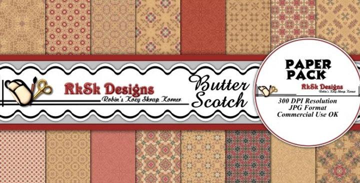 Butterscotch Digital Scrapbooking Paper Pk