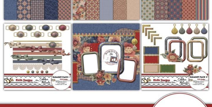 Golden Threads  Digital Scrapbooking Kit