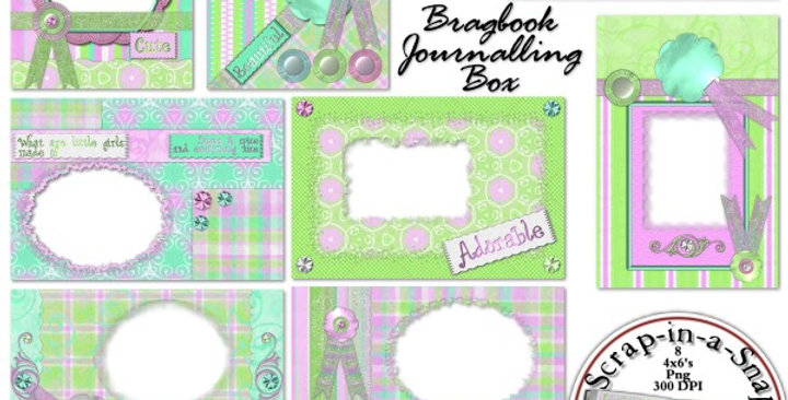 Totally Chick Brag Book Album Digital Scrapbooking