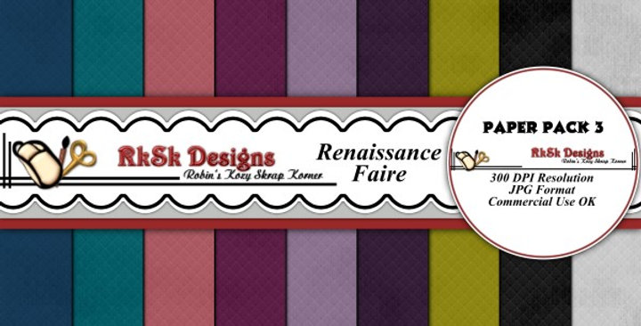 Renaissance Faire Paper Pk 2 Scrapbooking Kit