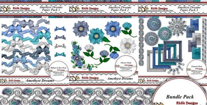 Amethyst Dreams  Digital Scrapbooking Kit