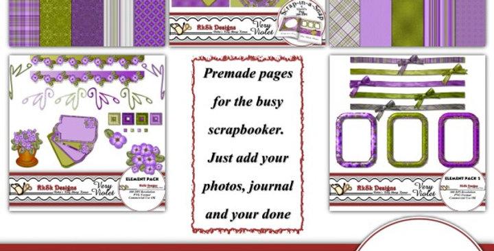 Very Violet Digital Scrapbooking Kit