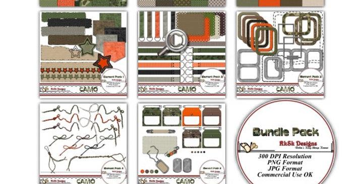 Camo Digital Scrapbooking Kit