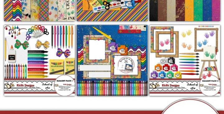School of Art Bundle Digital Scrapbooking Kit