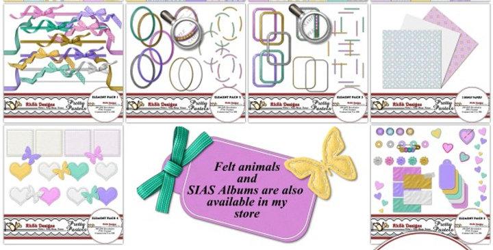 Pretty Pastels Digital Scrapbooking Kit