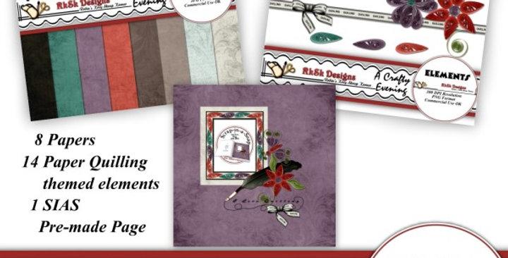 Crafty Evening Digital Scrapbooking Kit