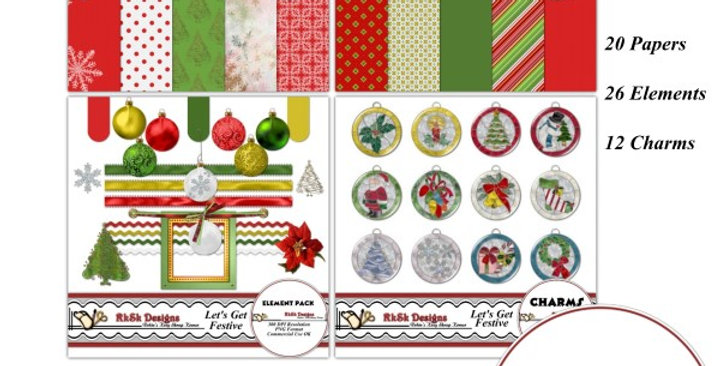 Let's Get Festive Digital Scrapbooking Kit