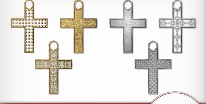 Filagree Cross Charms Digital Scrapbooking Kit