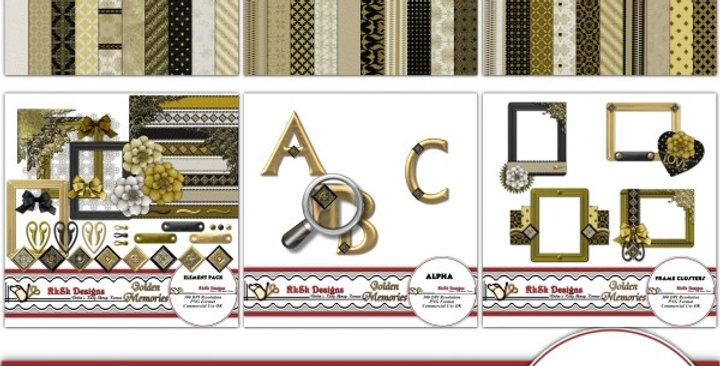 Golden Memories Scrapbooking Kit