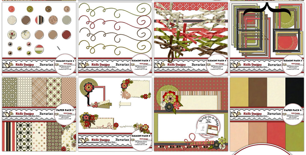 Bavarian Digital Scrapbooking Kit