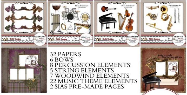 The Big Band Digital Scrapbooking Kit