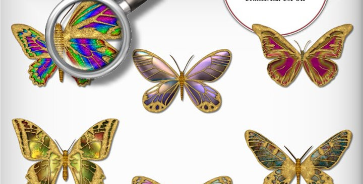 Butterfly 6 Embellishment Scrapbooking Kit