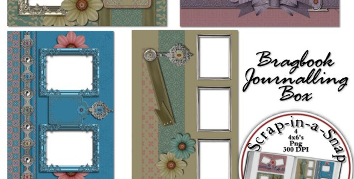 Vintage Flourish Brag Book Album Digital Scrapbooking