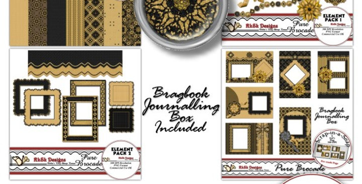 Pure Brocade Scrapbooking Kit