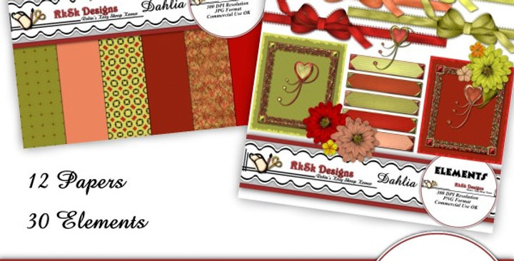Dahlia Mini Scrapbooking Kit