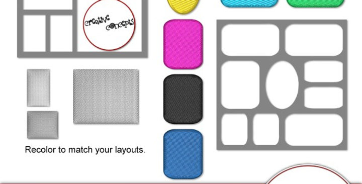 Creative Concept Frame Template Pack Digital Scrapbooking Kit