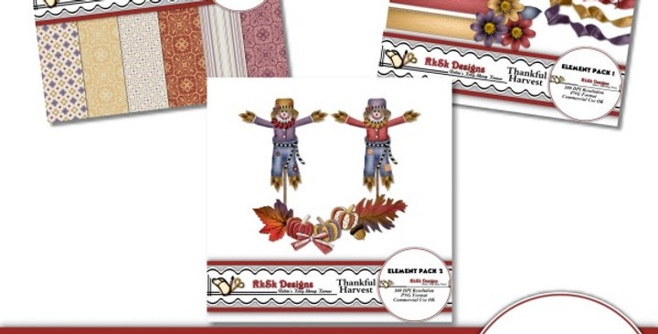 Thankful Harvest Digital Scrapbooking Kit
