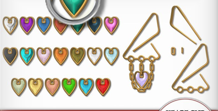Gold Clip with Hearts Scrapbooking Kit
