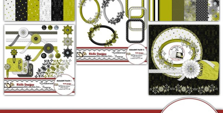 Goldenrod Frenzy Scrapbooking Kit