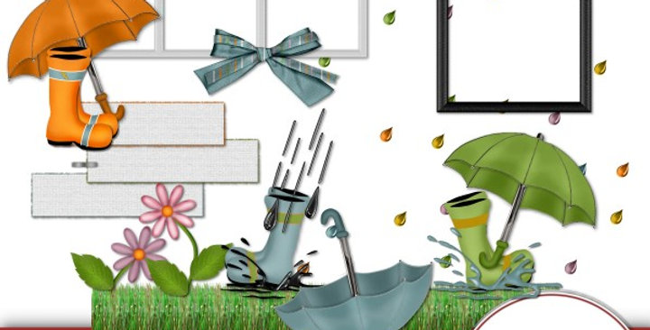 Umbrella Weather Element Pk 1 Scrapbooking Kit