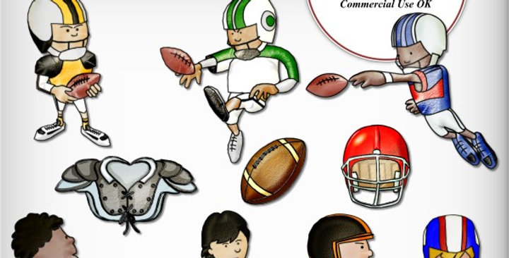 Altered-Art Whimsical Football Stickers Scrapbooking Kit