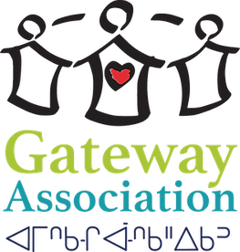 Logo for Gateway Association - people holding hands.