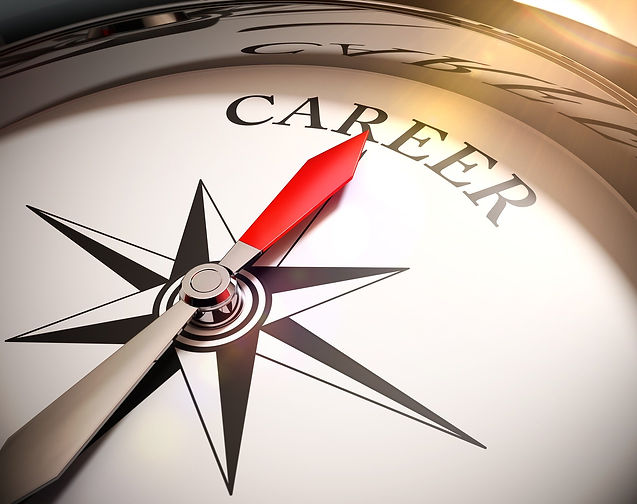 Picture of a compass with the word career on it.