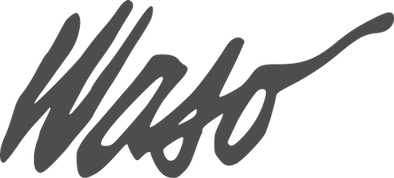 Logo for WASO - letters.