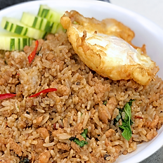 Spicy Fried Rice with Ground Beef