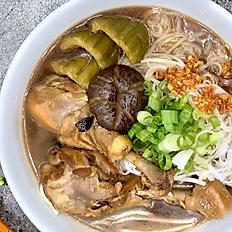 Bitter Melon with Chicken Drumpstick Noodle Soup