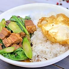 Chinese Broccoli with Crispy Pork