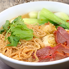 Egg Noodle with BBQ Pork and Wonton Soup