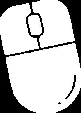 Clicking Mouse Web Design logo white