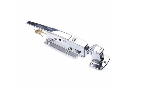 CHG 19100C Walk-In Cooler Door Safety Latch with Cylinder Lock and Strike