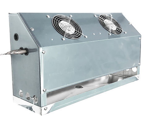Back Bar Cooler Evap 2 Fans, 1,700 BTU, 240 CFM