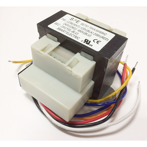 SE751 Transformer, 120/208/240/480V-24V 75VA, W/Circuit Breaker