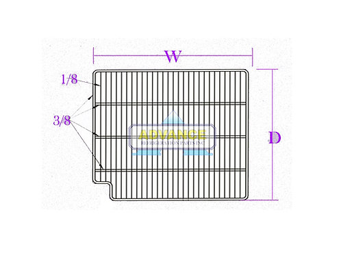 Wire Shelf 25 x 23 Left Cut 3T-Bar