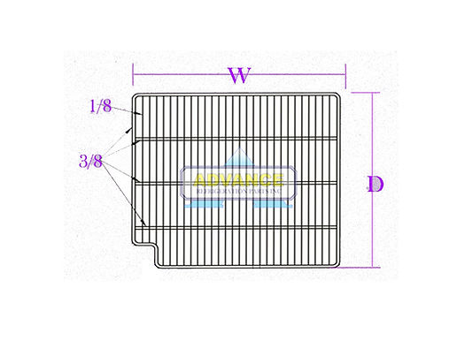 "Wire Shelf 28-3/8""X24-5/8"" Left Cut Out"