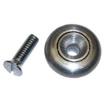 Stainless Steel Drawer Roller w/Screw & Nut