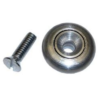 Stainless Steel Drawer Roller w/Screw & Nut