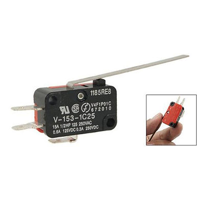 Micro Limit Switch Long Straight Hinge Lever Arm