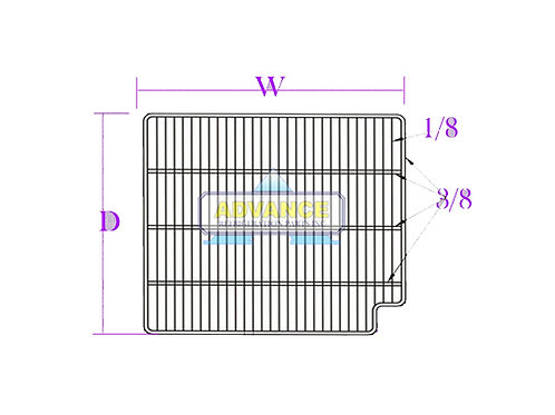 Wire Shelf 21 x 23 Right Cut 3T-Bar