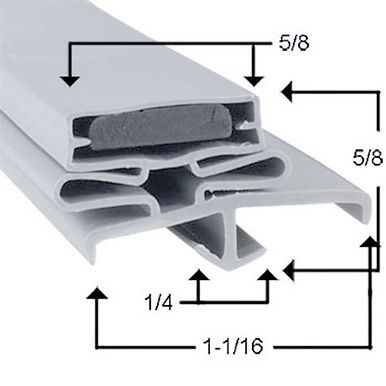 "Snap-In Magnetic Door Gasket 78"" X 35-3/4"" X 78"" (Three Sides)"