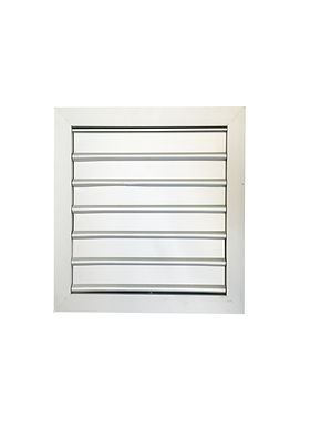 """Self-Closing Exhaust Fan Grille: 8"""" to 24"""" Opening"""