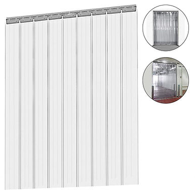 Plastic PVC Curtain Strips Kit for Warehouse, Walk in Cooler