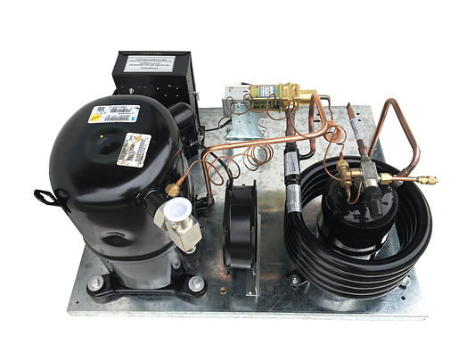 Water Cooled AWA2460ZXD 1-1/2 HP Low Temp, R404A, 220V