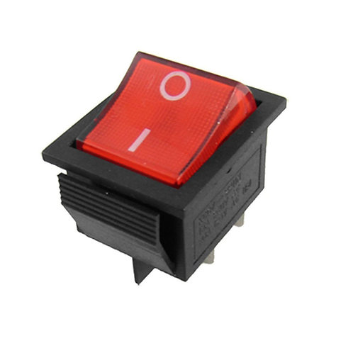 Red Rocker Switch Double Throw 16A 250VAC 1HP 125VAC