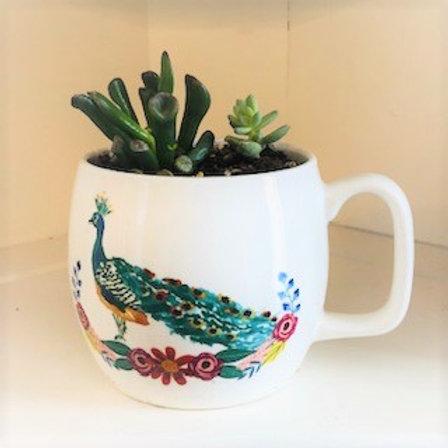 Succulent Mug-Peacock